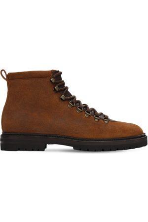 Manolo Blahnik Calaurio Leather Hiking Boots