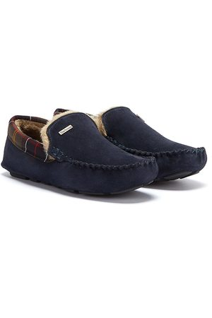 Barbour Mens Navy Monty Slippers