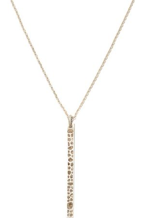 PARTS OF FOUR Plate Diamond & Sterling- Pendant Necklace - Mens