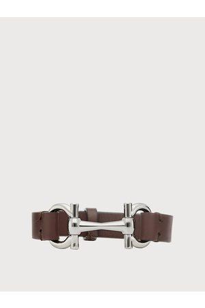 Salvatore Ferragamo Men Leather horse bit bracelet