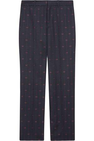Gucci Retro GG wide-leg trousers