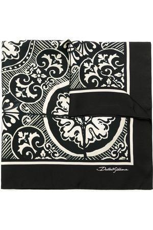 Dolce & Gabbana Men Scarves - Printed silk scarf