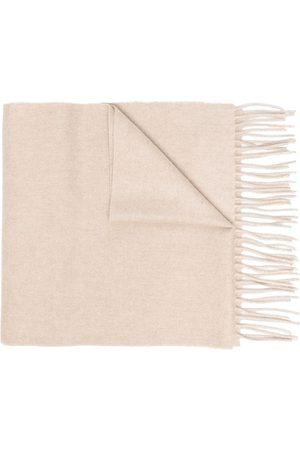 DELL'OGLIO Men Scarves - Fringe edge scarf - Neutrals
