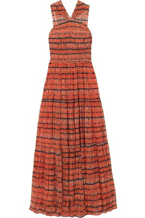 ULLA JOHNSON Woman Freesia Twist-back Tie-dyed Silk-georgette Maxi Dress Size 0