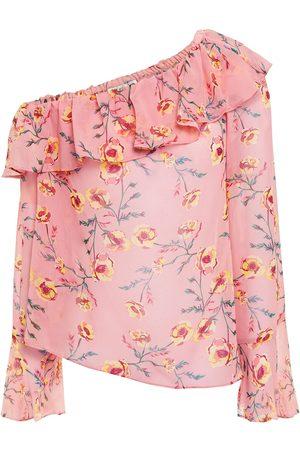 Rachel Zoe Woman Off-the-shoulder Ruffled Floral-print Georgette Top Size M