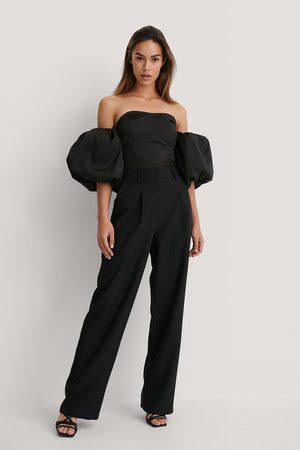 NA-KD Wide Suit Pants - Black