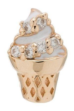 ALISON LOU 14kt yellow ice cream diamond single earring