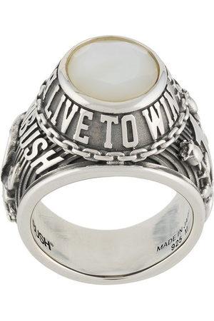 AMBUSH Engraved crystal signet ring