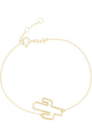 Aliita Cactus charm 9kt yellow bracelet