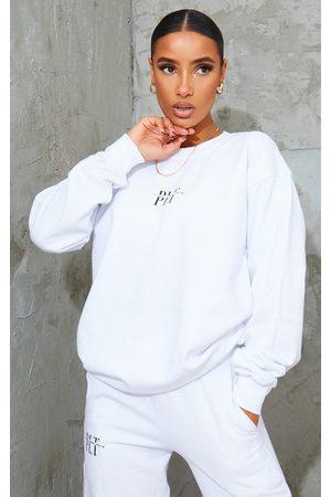 PRETTYLITTLETHING Slogan Print Sweater