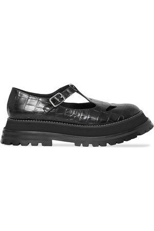 Burberry Crocodile effect T-bar shoes