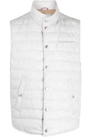 Brunello Cucinelli Men Body Warmers - Buttoned-up padded gilet