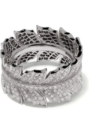 Stephen Webster 18kt white gold Magnipheasant pavé diamond ring