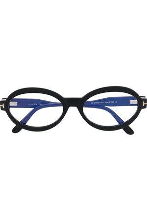 Tom Ford Oval-frame clear-lens glasses