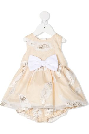 HUCKLEBONES LONDON Bow-belted dress with bloomers - Neutrals