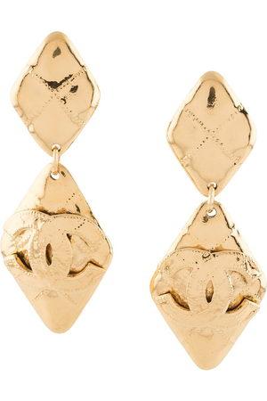 CHANEL 1994 CC drop earrings