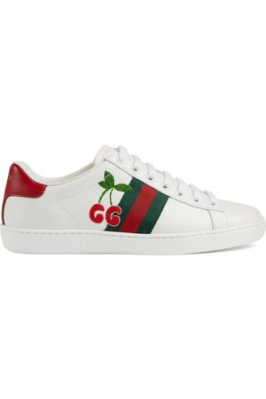 Gucci Women Trainers - Women's Ace sneaker with cherry