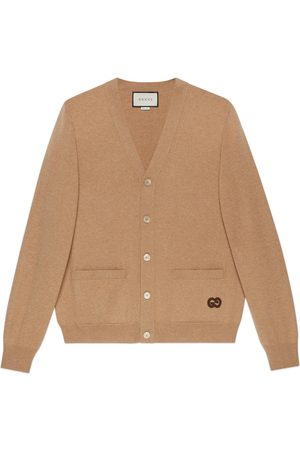 Gucci Men Cardigans - Cashmere cardigan with GG