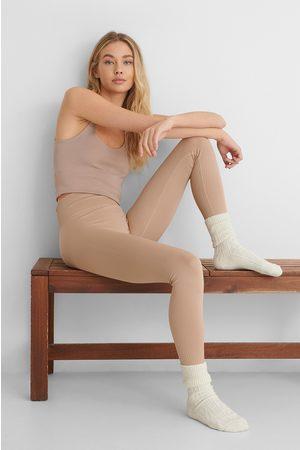 MANGO Apolo Leggings - Nude