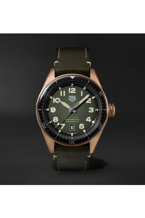 Tag Heuer Autavia Automatic Chronometer 42mm Bronze and Leather Watch, Ref. No. WBE5190.FC8268