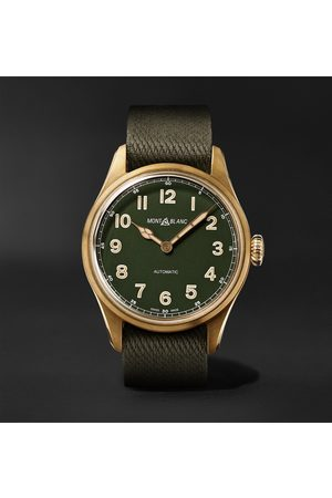 Mont Blanc 1858 Limited Edition Automatic 42mm Bronze and NATO Watch, Ref. No. 118222