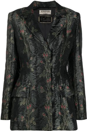 A.N.G.E.L.O. Vintage Cult 1990s floral jacquard concealed fastening blazer