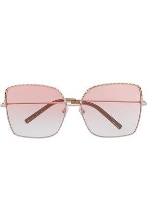 Linda Farrow Oversized square-frame sunglasses