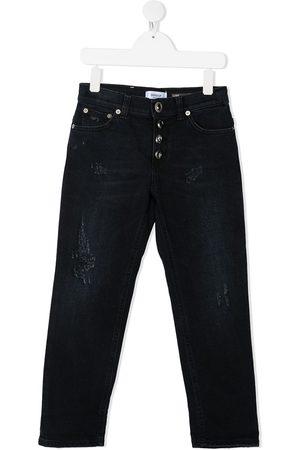 DONDUP KIDS TEEN ripped-detail straight-leg jeans