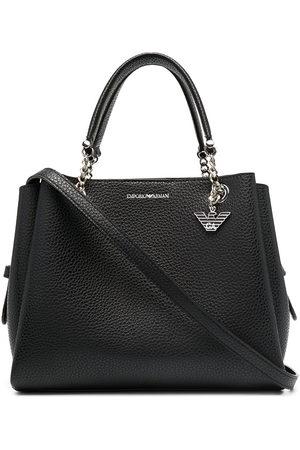 Emporio Armani Women Handbags - Pebbled effect chain strap tote bag