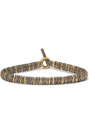 M. COHEN Snake 18-Karat and Burnished Sterling Silver Bracelet