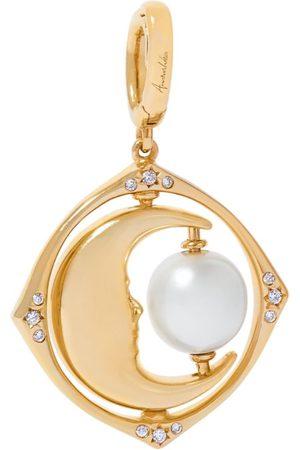 ANNOUSHKA Women Watches - Yellow and Diamond Mythology Spinning Moon Charm