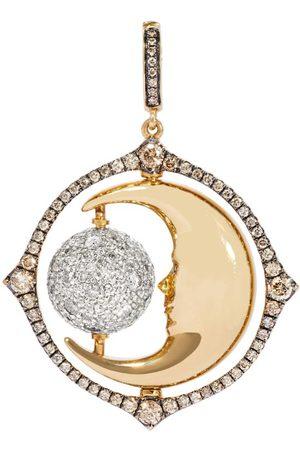 ANNOUSHKA Mixed and Diamond Mythology Spinning Moon Charm