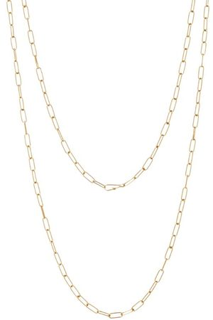 ANNOUSHKA Yellow Long Mini Cable Chain Necklace