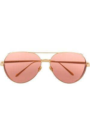 Linda Farrow Aviator-frame sunglasses