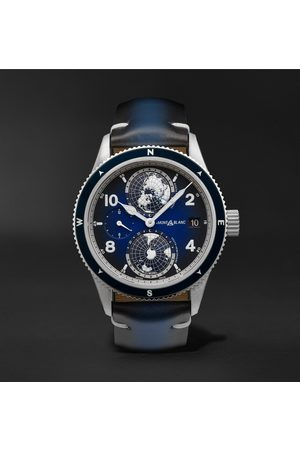 Mont Blanc 1858 Geosphere Automatic 42mm Titanium, Ceramic and Leather Watch, Ref. No. 125565