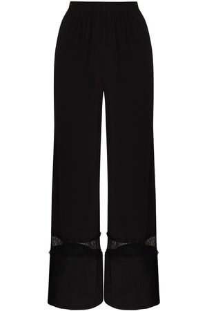 Sleeping with Jacques Lace panel wide-leg trousers