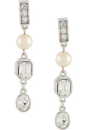 Susan Caplan Vintage 1990s embellished drop earrings