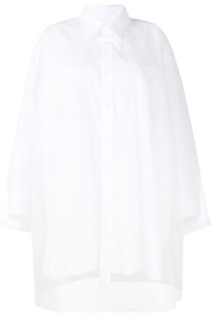 Maison Margiela Sheer-panel shirt dress