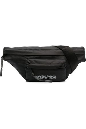 MARCELO BURLON Men Belts - Logo-print belt bag
