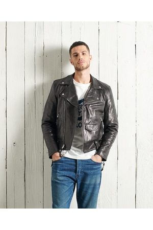 Superdry DRY Limited Edition Dry Leather Biker Jacket