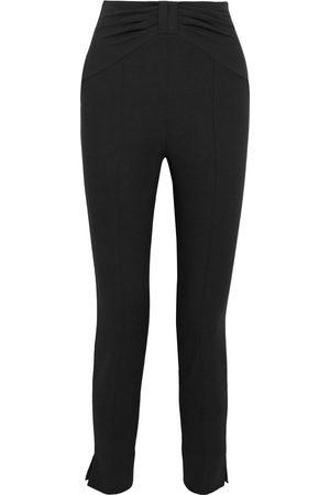 VERONICA BEARD Women Skinny Trousers - Woman Ferdinand Bow-detailed Cady Skinny Pants Size 0