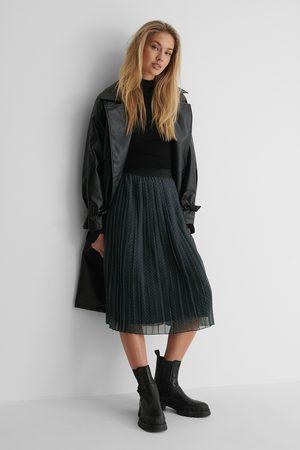 NA-KD Midi Pleated Skirt - Grey