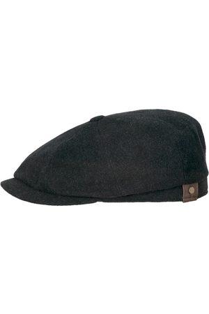 Stetson Hatteras Wool/Cashmere Flat Cap - Charcoal Grey