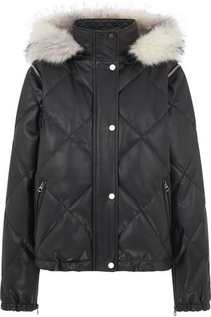 Urban Code Urban Code Quilted Short Jacket Detachable Sleeves and Fur Hood Khaki