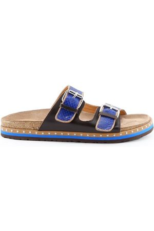 Maliparmi MALÌPARMI WOMEN'S SJ0177BLUE LEATHER SANDALS