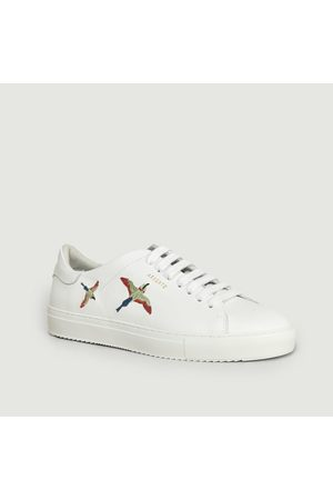 Axel Arigato Clean 90 Leather Sneakers With Embroidered Birds Birds Multi