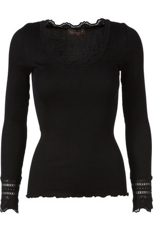 Rosemunde Long Sleeve Lace Blouse in Silk Mix