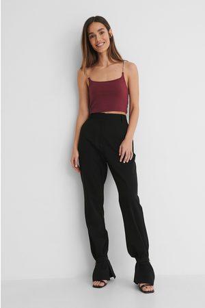 Danaë x NA-KD Chain Detail Suit Pants - Black