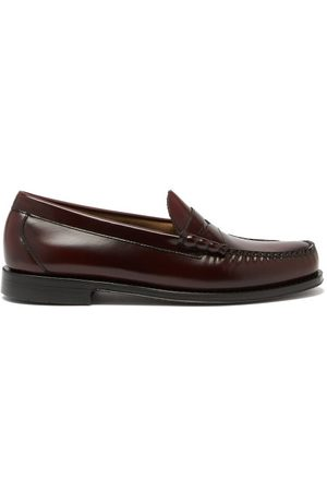 G.H. Bass Larson Weejun Leather Penny Loafers - Mens - Burgundy