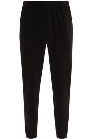 Les Tien Men Trousers - Brushed-back Cotton Velour Track Pants - Mens